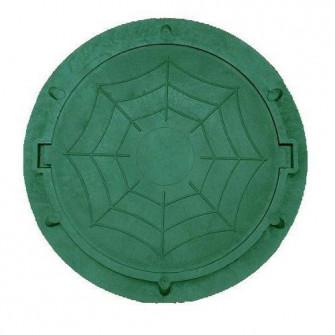 Capac de canalizare polimer rotund verde A30