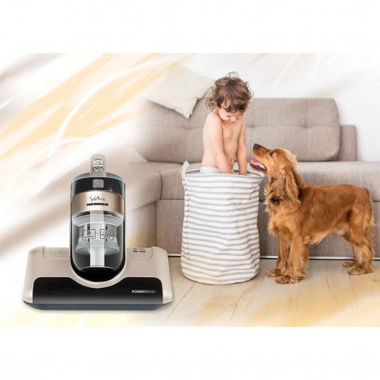 Aspirator saltele si canapele Heinner Sofa Mate 450, HCVC-M450G, 450 W, 0.4 L, 3 moduri de aspirare, perie rotativa 4.400 Rpm, lampa UV, Maro