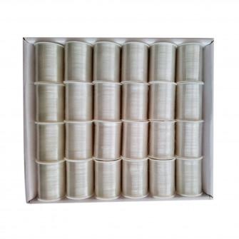 Set ata brodat 24 papiote, incolora, 100 m papiota , po