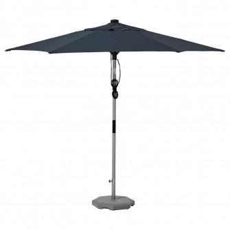 IKEA BETSO / LINDOJA Umbrela+baza, aspect lemn gri alba