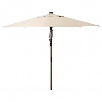 IKEA BETSO / LINDOJA Umbrela soare, maro aspect lemn, b