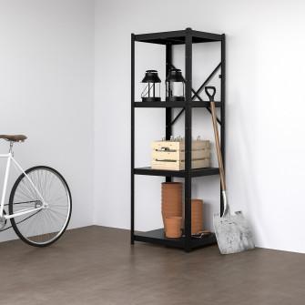 IKEA BROR Etajera, negru, 65x55x190 cm