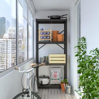 IKEA BROR Etajera, negru, 85x40x190 cm