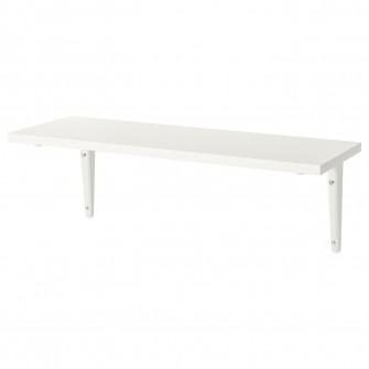 IKEA BURHULT / SIBBHULT Polita, alb, alb, 59x20 cm