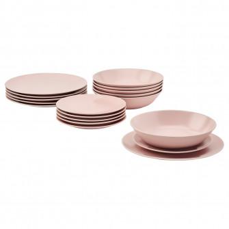 IKEA DINERA Serviciu 18 piese - roz deschis