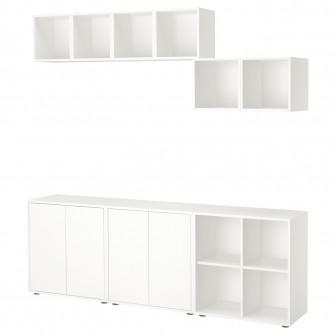 IKEA EKET CombinaTie corp cu picioare, alb, 210x35x180
