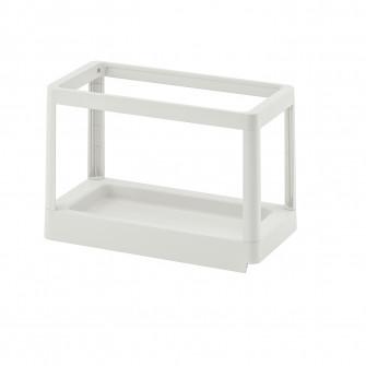 IKEA HALLBAR Cadru culisant sortare deseuri, gri