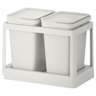 IKEA HALLBAR Solutie sortare deseuri, culisant, gri, 20