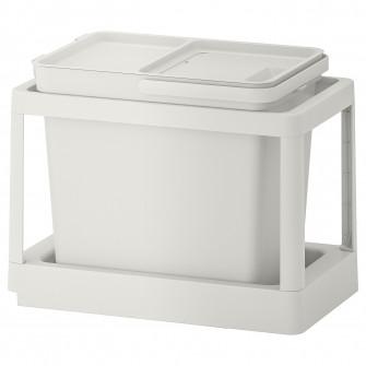 IKEA HALLBAR Solutie sortare deseuri, culisant, gri, 22