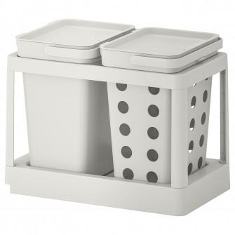 IKEA HALLBAR Solutie sortare deseuri, culisant ventilat