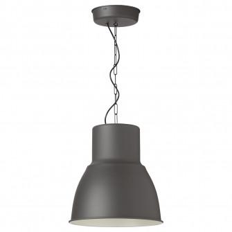 IKEA HEKTAR Lustra, gri inchis, 38 cm