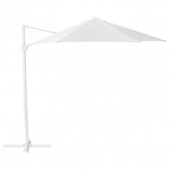 IKEA HOGON Umbrela de soare, alb, 270 cm