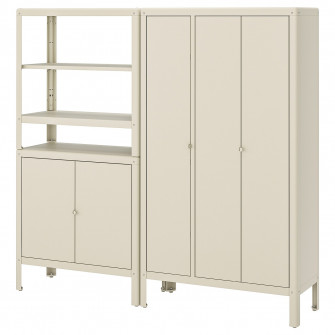 IKEA KOLBJORN Etajera cu 2 corpuri, bej, 171x37x161 cm
