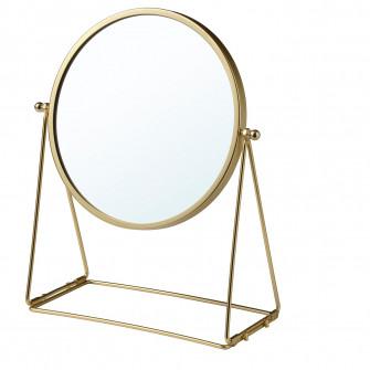 IKEA LASSBYN Oglinda de masa, auriu, 17 cm