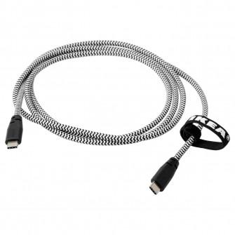 IKEA LILLHULT Cablu USB tip C pentru USB C, negru/alb,