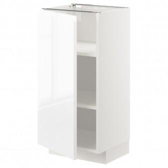 IKEA METOD Corp baza cu polite, alb, Voxtorp lucios/alb
