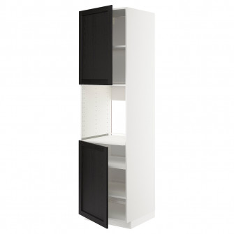 IKEA METOD Corp inalt cuptor+2 usi/polite, alb, Lerhytt