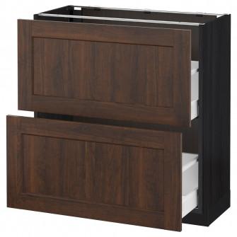 IKEA METOD / MAXIMERA Corp baza/2 sertare, negru, Edser