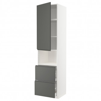 IKEA METOD / MAXIMERA Corp inalt microunde+usa/2 sertar