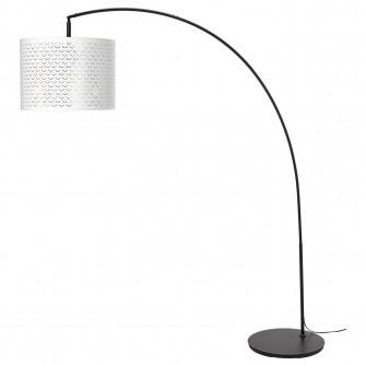 IKEA NYMO / SKAFTET Lampadar, arcuit, alb, alama