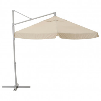 IKEA OXNO / VARHOLMEN Umbrela de soare, gri, bej, 300 c