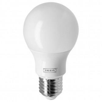IKEA RYET Bec LED E27 470 lumeni, glob opal