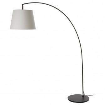 IKEA SKOTTORP / SKAFTET Lampadar, arcuit, gri