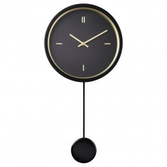 IKEA STURSK Ceas perete, negru, 26 cm
