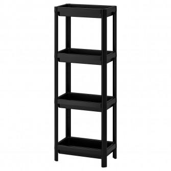 IKEA VESKEN Etajera, negru, 36x23x100 cm