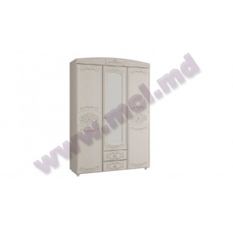 KAROLINA Shkaf 3-h dvernij kombinirovannij s zerkalom