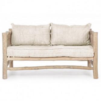 Banca maro din textil si lemn 140 cm Sahel Bizzotto 680