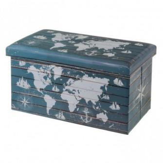 Bancheta din MDF si piele 76 cm World Unimasa 124543