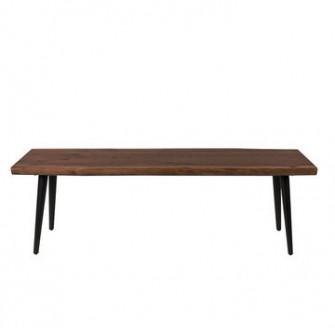 Bancheta din metal si lemn alun 140 cm Alagon Dutchbone