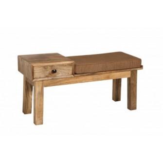 Bancheta maro din lemn 100 cm Pure Invicta Interior 386