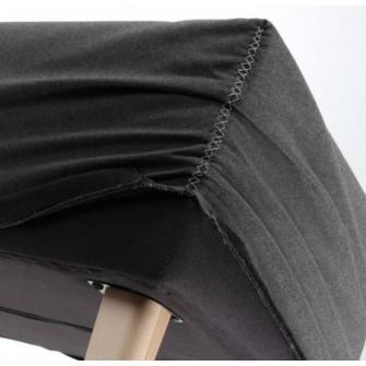Husa pentru bancheta gri din textil Lydia Graphite La F