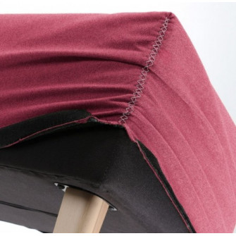 Husa pentru bancheta rosie din textil Lydia Burgundy La